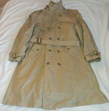 Vintage Anderson Little Mens Winter Trench Coat Wool Liner 40 S Khaki Beige