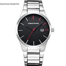 Men Fashion Watch Military Stainless Steel Date Analog Quartz Sport Wrist Watch