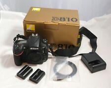 Nikon D810 36.3 MP Digital SLR Camera - Black (Body Only)