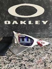 OAKLEY STRAIGHT JACKET WHITE CHROME RED/POSITIVE RED IRID SUNGLASSES RARE 04-329