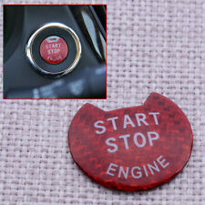 Red Engine Start Stop Push Button Cover Trim Fit for Nissan March 2015