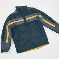 COLUMBIA Boys WINTER COAT Jacket - Sz.Youth 14/16 Snow Ski, Black & Yellow