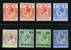 BRITISH HONDURAS KG V 1913-21 A Wmk Mult Crown CA Group SG 102 to SG 107 MINT