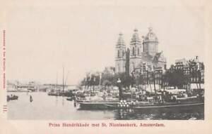 Ansichtkaart Nederland : Amsterdam - Prins Hendrikkade / Nicolaaskerk (boxa0007)