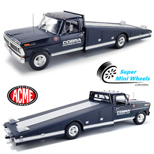 Acme 1:18 - Shelby Cobra - 1970 F-350 Ramp Truck - Powered by Ford - (Dark Blue)