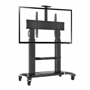 """Premium Quality Heavy-Duty Mobile TV Stand CF100 Black 60""""-100"""" Screens to 90kg"""