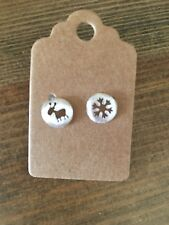 Reindeer And Snowflake Earrings New