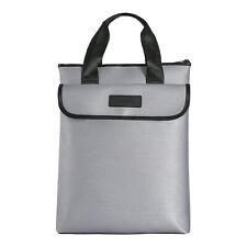 Fireproof Lock Box Bag for Documents Waterproof Safe Money Holder Zipper Pouch
