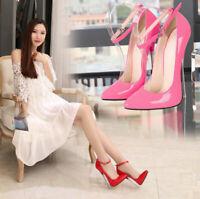 Women Pointed Toe Super High Heels Stiletto Prom Catwalk Nightclub Shoes Sandals
