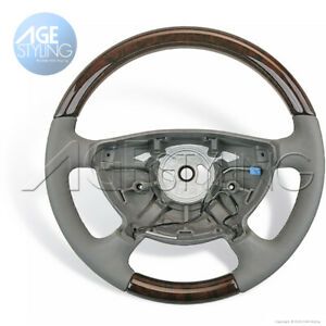 OEM Mercedes-Benz E350 E500 211 Walnut Wood Grey HEATED Steering Wheel 2002-2006