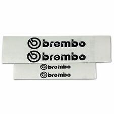 2x 105MM and 2X 40MM SUBARU STI BREMBO BLACK REFLECTIVE CALIPER STICKERS