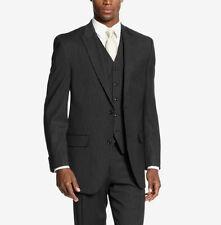 Sean John Men's Black/White Stripe 38/Short Peak Lapel Claccic Blazer Sportcoat
