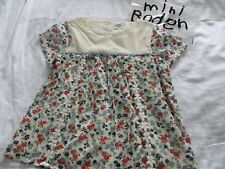 BN Girls Mini Boden Cotton Floral Embroiderd Short Sleeve Blouse Top Age 11-12yr