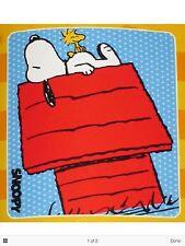 Peanuts Snoopy And Woodstock Plush Fleece Blanket Super Soft LLC Peanuts NWT