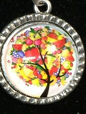 """Tree of Life Fruits Charm Tibetan Silver 18"""" Necklace C"""