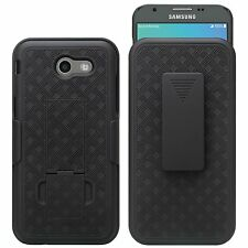 Samsung Galaxy J3 Emerge / J3 Prime - HARD HOLSTER KICKSTAND CASE with BELT CLIP