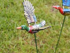 X2 VASO stick decorazioni volare Anatra su un bastone! Ornamenti Figure da giardino