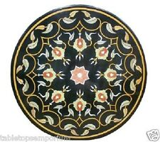 3'x3' Marble Dining Table Top Rare Hakik Marquetry Mosaic Home Hallway Decor