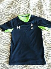 Boy'sUnder Armour Blue/Green Basketball Shirt youth med approx. Sx. 6x to 7