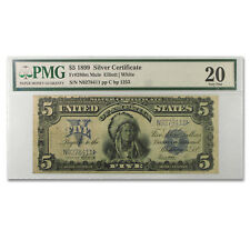 1899 $5.00 Silver Certificate Chief Running Antelope VF-20 PMG
