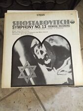 Shostakovich Symphony No. 13 Babi Yar; Humor; At The Store; Fears; A Career LP