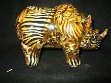 LeVie, vintage patchwork rhinoceros