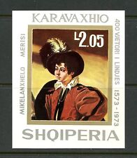 K655 Albania 1973 art paintings Caravaggio imperf sheet Mnh