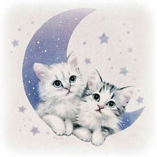 5D Moon Cat Star Embroidery Rhinestone Pasted Diy Diamond Painting Cross Stitch