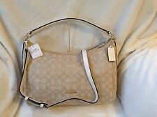 NWT. COACH OUTLINE SIGNATURE EAST WEST CELESTE CONVERTIBLE HOBO BAG F58284