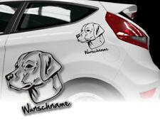Aufkleber Labrador Retriever  H267 Hundeaufkleber Wunschname Auto