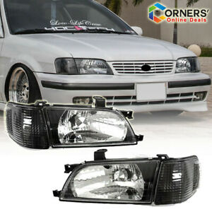 Fits For Toyota Tercel 1998 / 1999 Headlight Black Housing -Pair Set