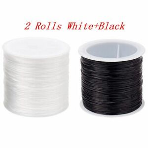 2Pcs 50m Strong Stretchy Elastic String Cord Thread For Diy Bracelet Necklace