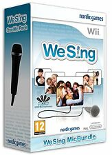 Nintendo Karaoke Wii Game We Sing vol. 1+ Items Micro Microphone NEW