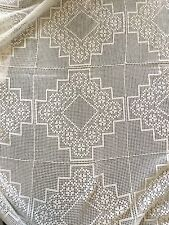 CROCHET TABLE CLOTH 98 X 64 INCHES