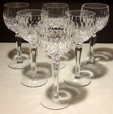 """6 VINTAGE WATERFORD CRYSTAL COLLEEN WINE HOCK GLASSES ~ 7 3/8"""""""