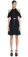 BNWT CUE Zip front Ruffle Dress with Belt Sz 6 RRP$349