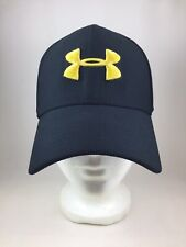 Men's Under Armour Fitted Hat Stretch Ball Cap Size L/XL Black w/ Gold Insignia