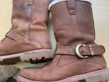 Timberland Ladies / Girls Boots, UK 6 Brown Nubuck Leather Distressed Look