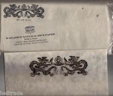 "Kailash 's natural rice Paper Airmail set-papel de arroz set ""dragon"" * from Nepal"