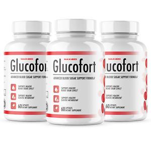 Glucofort Advanced Formula Cholesterol Blood Sugar Glucose Support 3 Pack