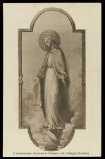 antica cartolina MARIA IMMACOLATA-COLLEGIO SERAFICO OFM SPACCAFORNO/ISPICA
