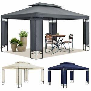 Pavillon Gartenzelt Partyzelt Gartenpavillon beige grau blau 3x4 m Juskys®