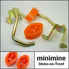 Classic Mini Exhaust Hanger Conversion Kit & ORANGE Polyflex bushes austin bmc