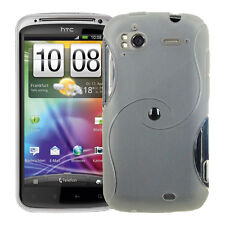CASE COVER TPU S SILICONE GEL TRANSPARENT + FILM FOR HTC SENSATION G14