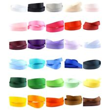 "Grosgrain Ribbon 25mm (1"" inch) - 35 Plain Coloured Double Sided/Faced Large"