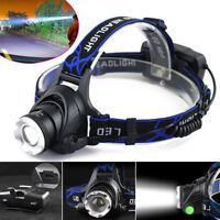 Tactical 30000LM Rechargeable T6 LED Headlamp 18650 Headlight Head Lamp Torch !