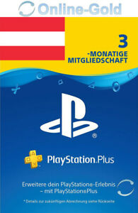 Playstation Plus 3 Monate 90 Tage Mitgliedschaft - PS5, PS4, PS3, PS Vita - AT