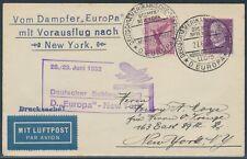 Katapultflug Dampfer Europa 28.6.1932 Seepost nach New York (S18527)