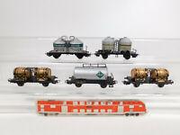 CM939-0, 5 #5x Märklin H0/AC Freight Car: 4510 / 308+4500+4511+4658 , Used