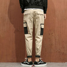 Korean Style Patch Pocket Man's Casual Pants - Black